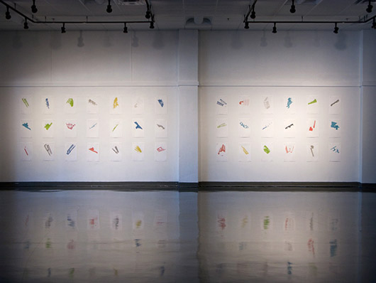 Packet Switching (UCF), inkjet prints, 40 in. x 9 in., 2012