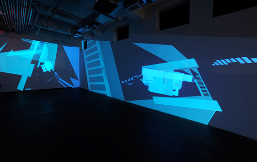 Grid, Sequence Me @ Flashpoint Gallery, Washington D.C., Three-channel projection., Dimensions variable, 2013. Photograph by Brandon Webster