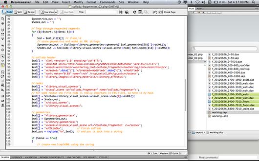 ColladaFragmenter source code, 2012