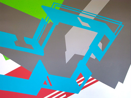 Temporary Home (detail), acrylic on panel, 40 in. x 9 in., 2012